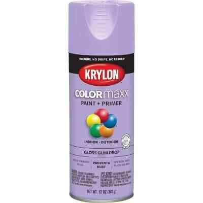 Krylon ColorMaxx12 Oz. Gloss Spray Paint, Gum Drop