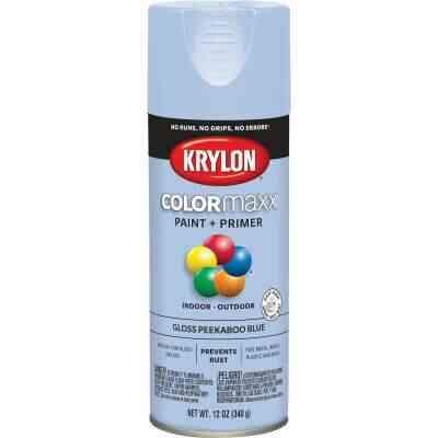 Krylon ColorMaxx 12 Oz. Gloss Spray Paint, Peekaboo Blue