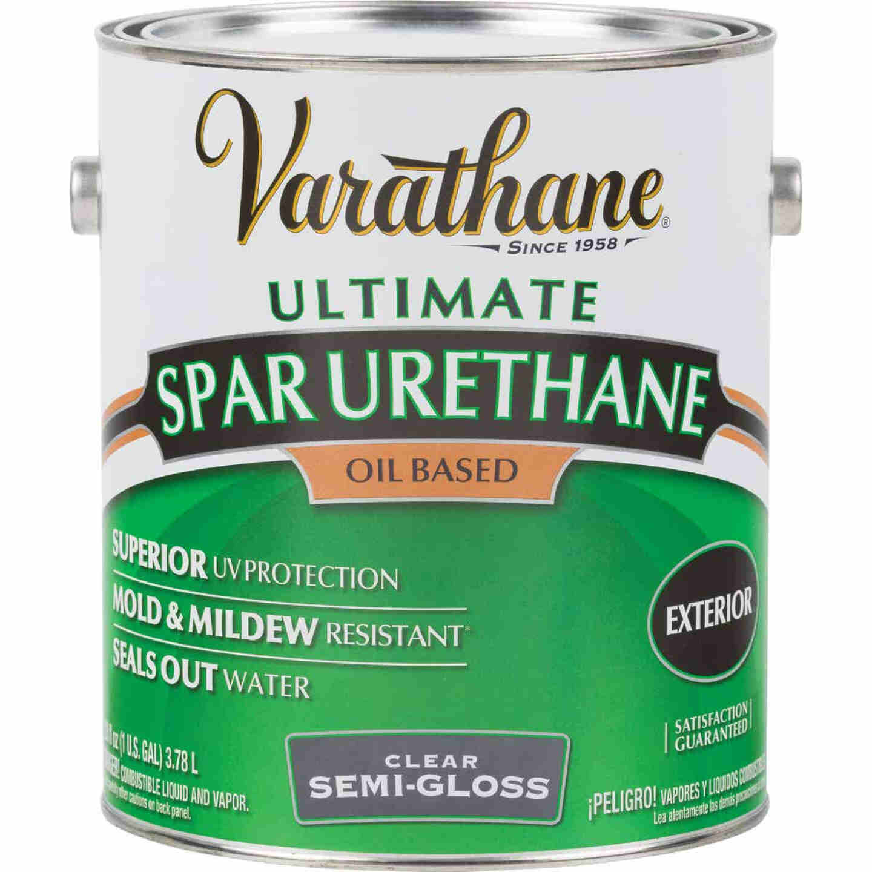 Varathane Semi-Gloss Clear Exterior Low VOC Spar Urethane, 1 Gal. Image 1