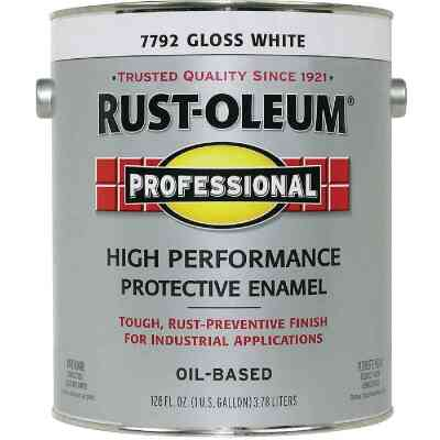 Rust-Oleum Gloss VOC for SCAQMD Professional Enamel, White, 1 Gal.
