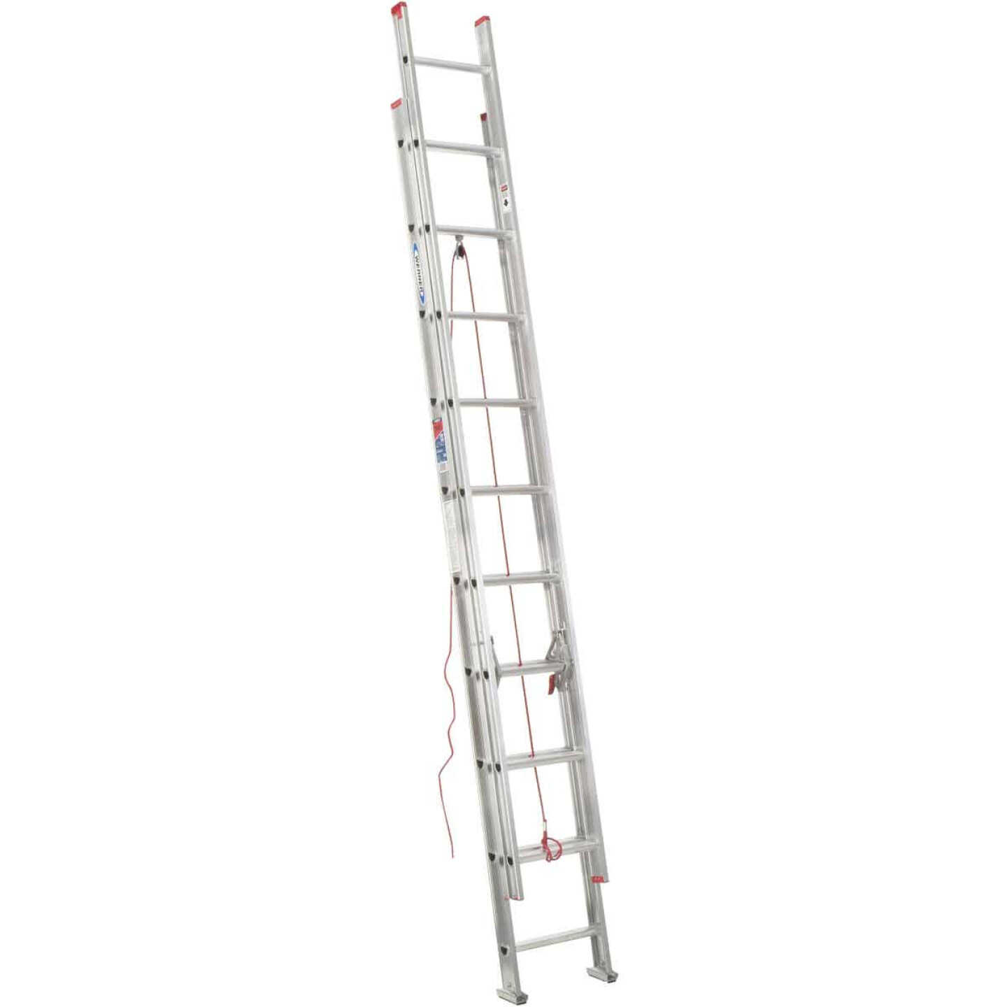 Werner 20 Ft. Aluminum Extension Ladder with 200 Lb. Load Capacity Type III Duty Rating Image 1