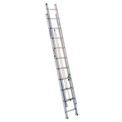 Werner 24 Ft. Aluminum Extension Ladder with 200 Lb. Load Capacity Type III Duty Rating