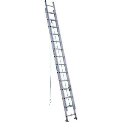 Werner 28 Ft. Aluminum Extension Ladder with 225 Lb. Load Capacity Type II Duty Rating