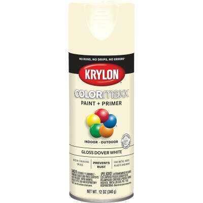 Krylon ColorMaxx 12 Oz. Gloss Spray Paint, Dover White