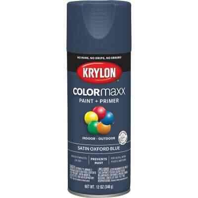 Krylon ColorMaxx 12 Oz. Satin Spray Paint, Oxford Blue