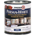 Zinsser Perma-White White-Tintable Satin Quart Mildew Paint Image 1