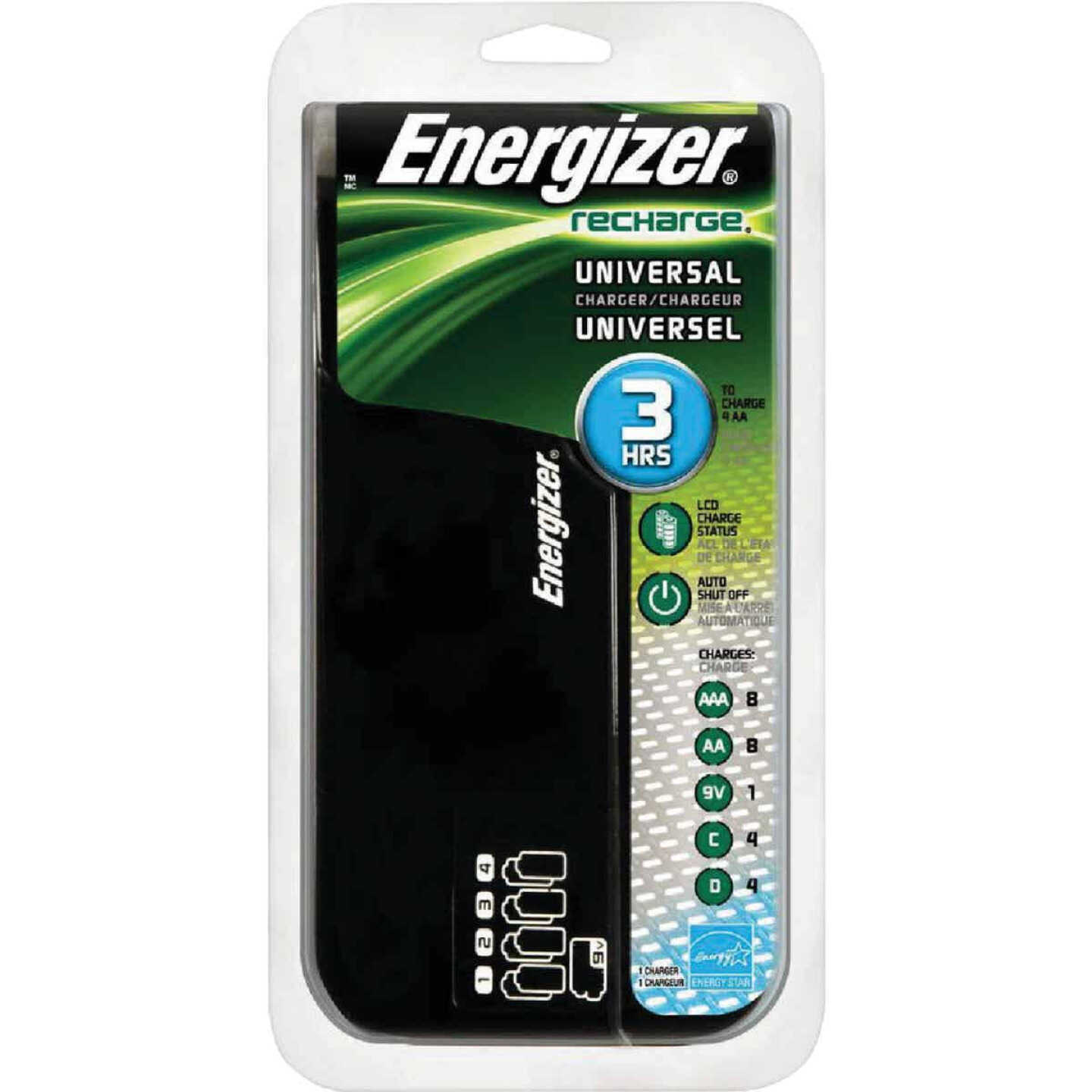 Energizer (2 or 4) AA, (2 or 4) AAA, (2 or 4) C, (2 or 4) D, (1 or 2) 9V NiMH Recharge Universal Battery Power Station Image 1