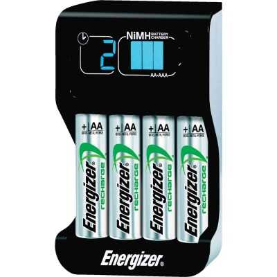 Energizer (2) or (4) AA, or AAA NiMH Smart Battery Charger