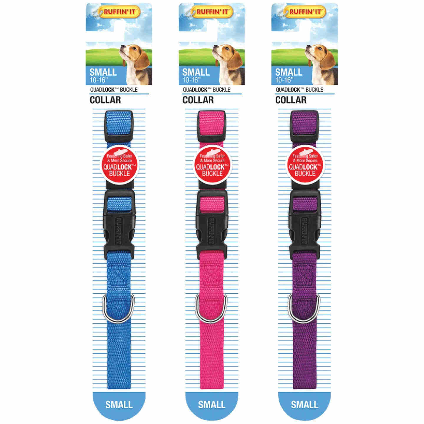 Westminster Pet Ruffin' it Adjustable 10 In. to 16 In. Nylon Dog Collar Image 3