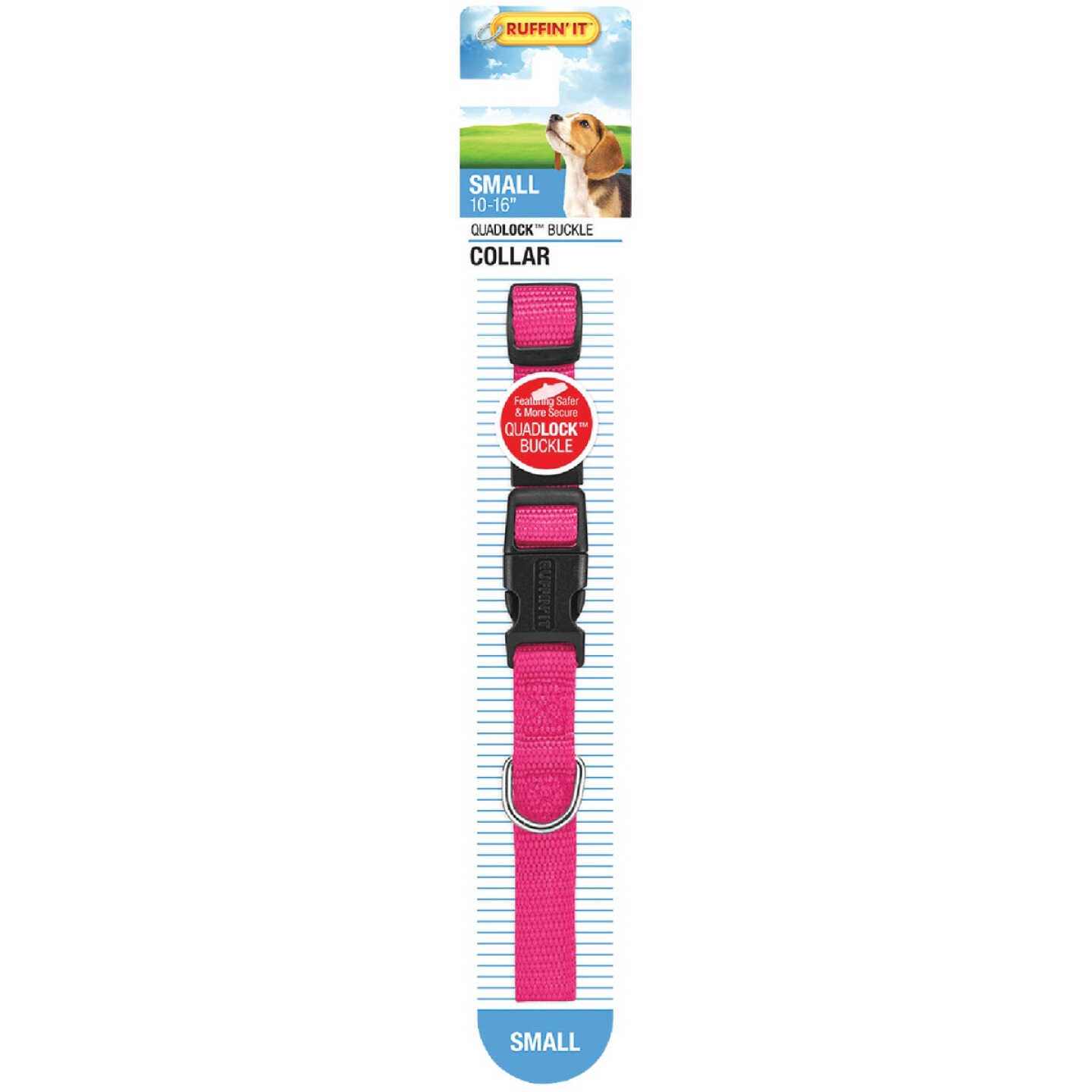 Westminster Pet Ruffin' it Adjustable 10 In. to 16 In. Nylon Dog Collar Image 4