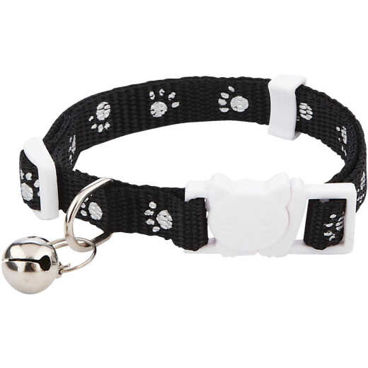 Westminster Pet Ruffin' it Adjustable Paw Print Cat Collar with Breakaway Clasp