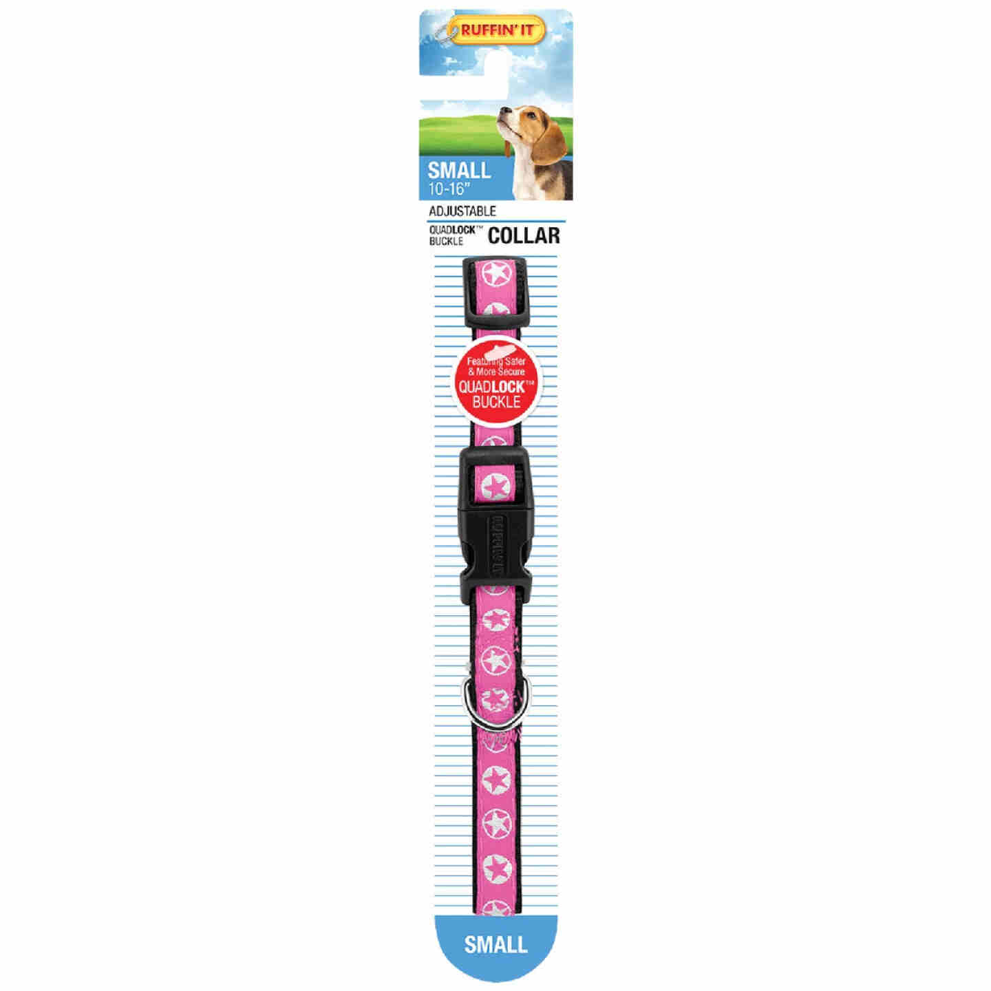 Westminster Pet Ruffin' it Adjustable 10 In. to 16 In. Nylon Star Print Dog Collar Image 2