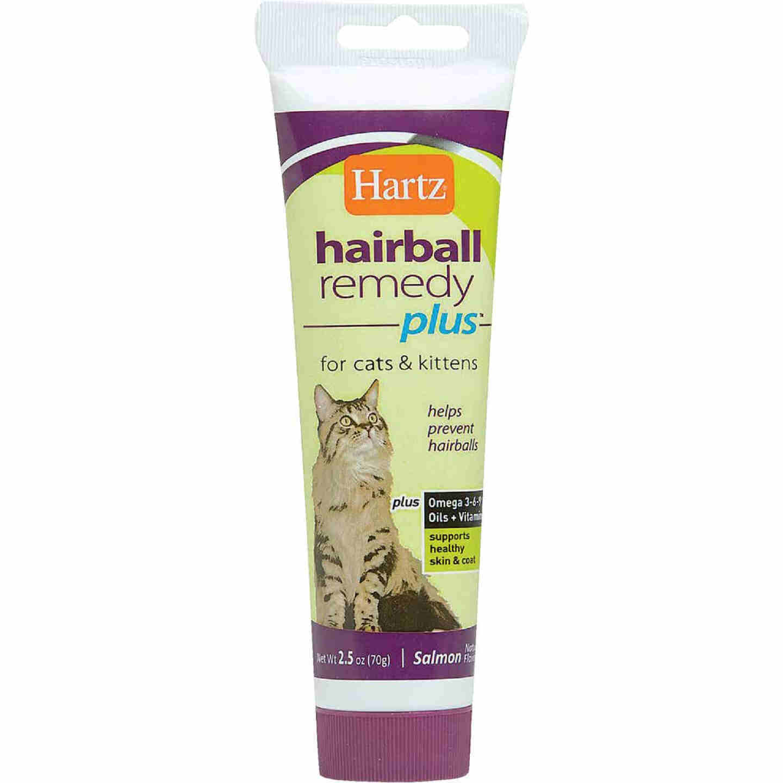 Hartz Hairball Eliminator Remedy Plus 3 Oz. Salmon Flavor Paste For Cats & Kittens Image 1