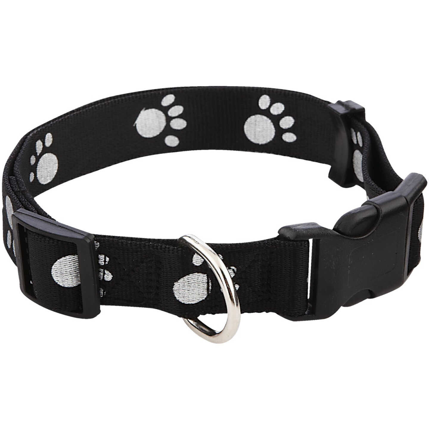 Westminster Pet Ruffin' it Reflective 18 In. to 26 In. Nylon Paw Print Dog Collar Image 1