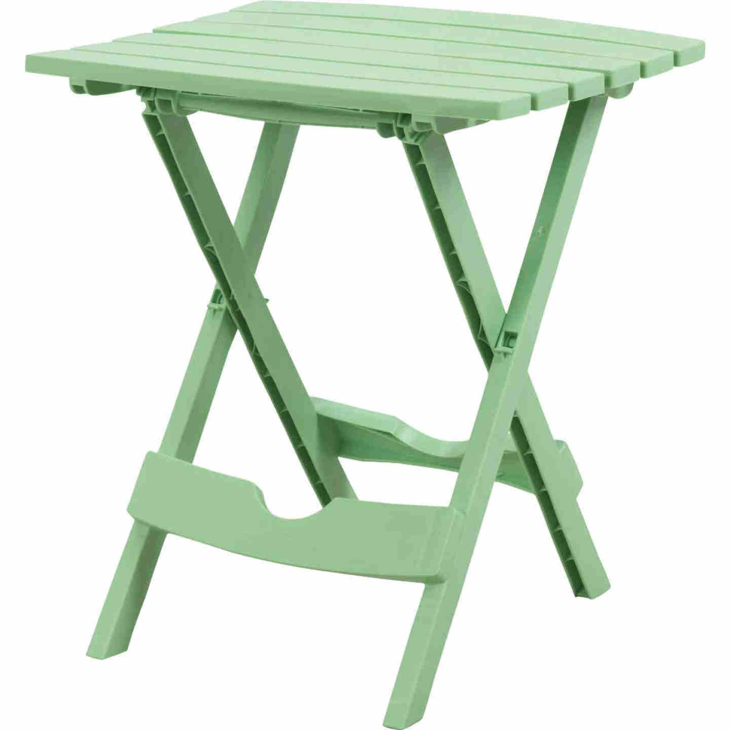 Adams Quik-Fold Green 15 In. x 17.5 In. Rectangle Resin Folding Side Table Image 1