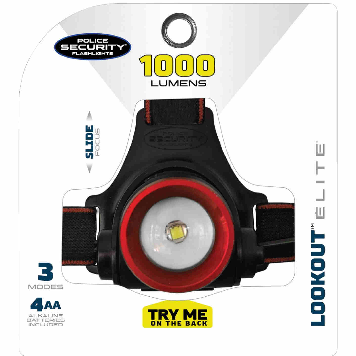 Police Security Lookout 1000 Lm. LED AA Headlamp Image 3
