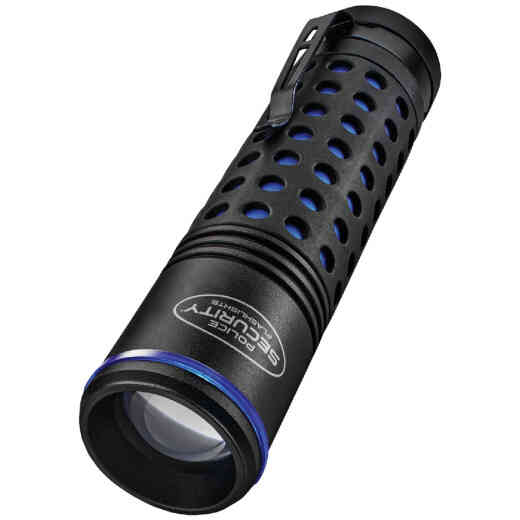Police Security Barricade 3AAA 400 Lm. Focusing Rubber Grip LED Flashlight
